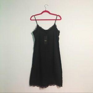 Only Dresses - NWT Black Slip Dress Lace Hems 4